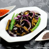 Sri Lankan Eggplant Pickle (Wambatu Moju)