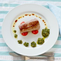 Pan Fried Tuna With Salsa Verde