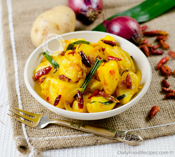 Sri Lankan Tempered Potatoes (Ala Thel Dhala)