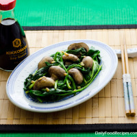 Chinese Spinach And Mushroom Stir Fry