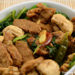 Pork Curry With Spinach And Mushroom