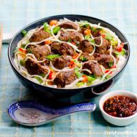 Meatballs Noodle Soup
