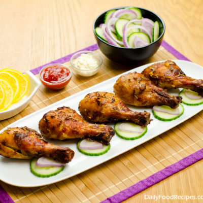 Honey & Mustard Baked Chicken Drumsticks