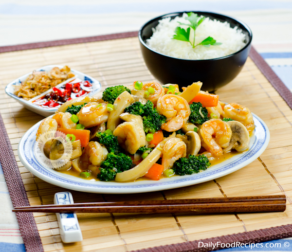 Seafood Stir Fry With Vegetables