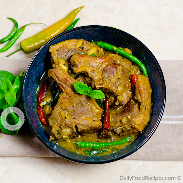 Mint Lamb Curry