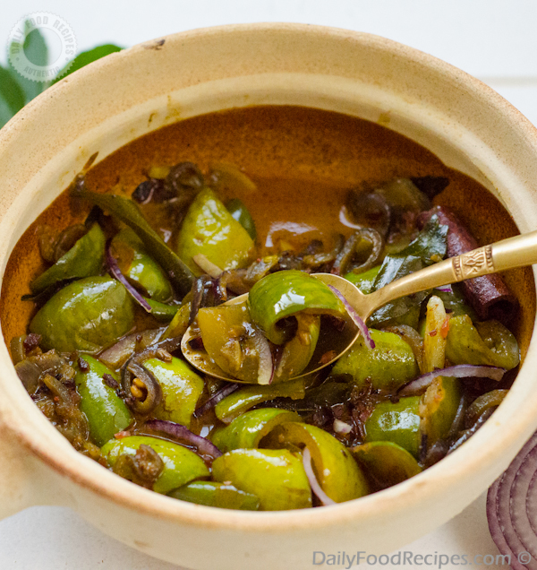 Sri Lankan Ela Batu Curry (Thalana Batu Curry / Thai eggplant curry)